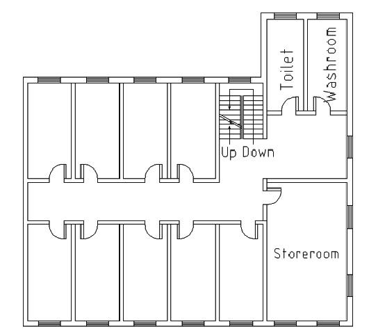 Simple dormitory-building