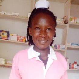 School Nurse   Education:  Diploma in Nursing. Marital status: Single. Age: 28. She is a very hard working lady with extraordinary love for children.